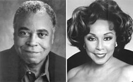 James Earl Jones and Diahann Carroll