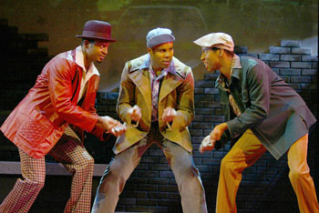 André Garner, Kevin R. Free, and Rodney Hicks inFrom My Hometown(Photo © Joan Marcus)