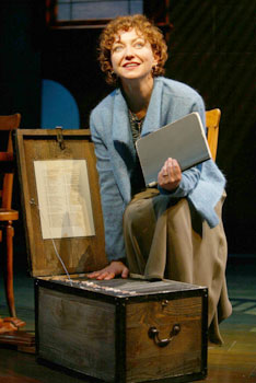 Julie White in Fiction(Photo © Joan Marcus)