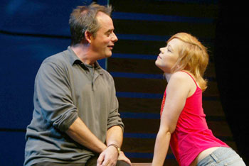 Tom Irwin and Emily Bergl in Fiction(Photo © Joan Marcus)