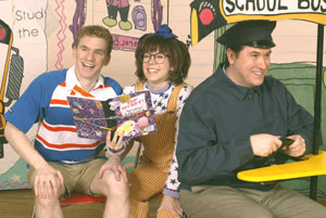 Adam Overett, Mary Faber, and Michael McCoyin Junie B. Jones(Photo &copy; Carol Rosegg)