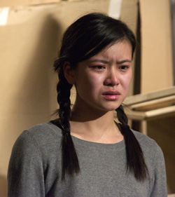 Katie Leung in rehearsal for Wild Swans