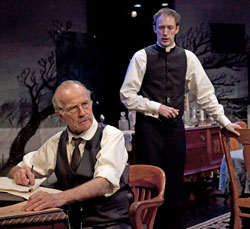 Robert Hogan and James Patrick Nelson in Rutherford & Son (© Richard Termine)
