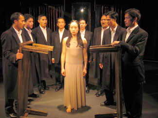 Eunice Wong (center) and the Chorus in Antigone(Photos © Ching Gonzalez)