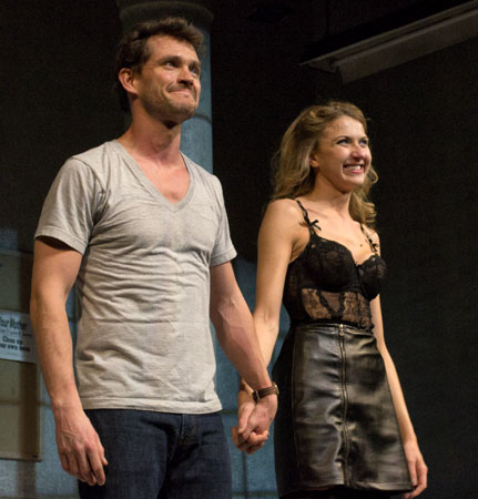 Hugh Dancy and Nina Arianda at Venus in Fur curtain call
