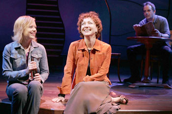 Emily Bergl, Julie White, and Tom Irwin in Fiction(Photo © Joan Marcus)