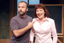 Danny Burstein and Leslie Lyles in Mrs. Farnsworth(Photo © Ginny Arcari)