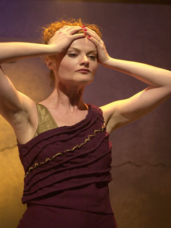 Rebecca Wisocky in Medea in Jerusalem(Photo &copy; Benjamin Heller)