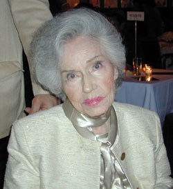 One of the last photos of Fay Wray,taken at a June 2004 party at Sardi'sfor the documentary Broadway: The Golden Age(Photo © Michael Portantiere)