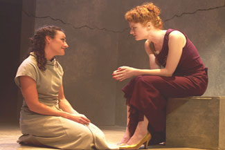 Jennifer McCabe and Rebecca Wisocky in Medea In Jerusalem(Photo © Benjamin Heller)