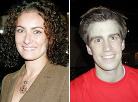 Laura Benanti (Photo © Joseph Marzullo) andGavin Creel (Photo © Michael Portantiere)