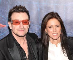 Bono and Julie Taymor at opening night