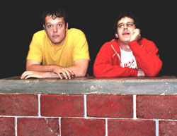 Good grief! Michael Gladis and Tate Ellington in FringeNYC Award-winning Dog Sees God