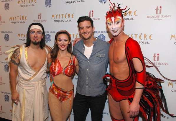 Mark Ballas and Mystère cast members