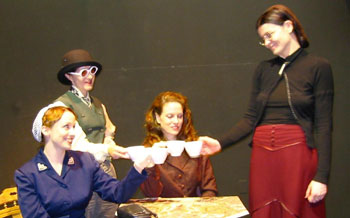 Donna Abraham, Katherine O'Sullivan, Annemarie Lawless,and Ruth Kavanagh in Nora's Bloke(Photo © Mark Rifkin)