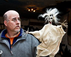 Greg Allen with a puppet from