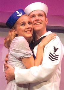 Kathleen White and Andy Meyersin Dames at Sea(Photo © Gerry Goodstein)