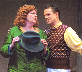 Judith Jarosz and Campbell Bridges in Dames at Sea(Photo © Gerry Goodstein)