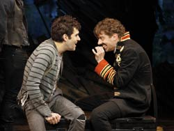 Adam Chanler-Berat and Christian Borle in Peter and the Starcatcher (© Joan Marcus)