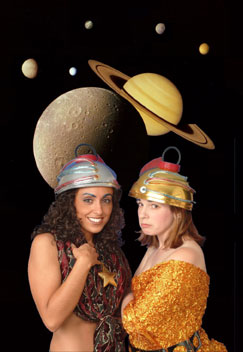 Christina D'Orta and Alissa Hunnicutt inThe First (and Last) Musical on Mars(Photo © Peter Freed)