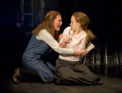 Marin Mazzie and Molly Ranson in Carrie (© Joan Marcus)