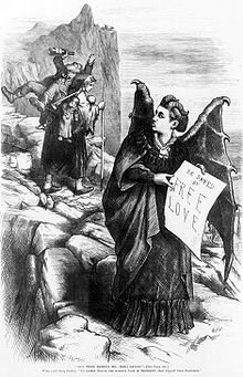 Publicity image for Satan's Whore, Victoria Woohdull by Thomas Nast