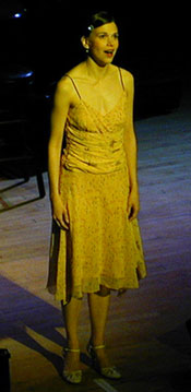 "Sutton Foster singing""Someone to Watch Over Me""(Photo © Michael Portantiere)"