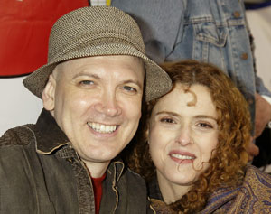 Charles Busch and Bernadette Peters at theBC/EFA Flea Market(Photo © Joseph Marzullo)