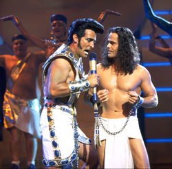 Donny Osmond and company in Joseph and the Amazing Technicolor Dreamcoat (Courtesy NCM Fathom Events and Omniverse Vision)