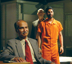 Harsh Nayyar, Maulik Pancholy, and Ramsey Faragallahin Guantánamo(Photo © Brian Michael Thomas)