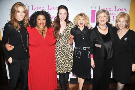 Ally Walker, Erica Watson, Sierra Boggess, Karyn Quackenbush, Joyce Van Patten, and Daryl Roth