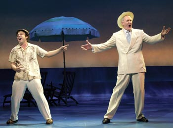 Norbert Leo Butz and John Lithgow in Dirty Rotten Scoundrels(Photo © Craig Schwartz)