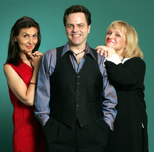 Kelly Taylor, Tom Souhrada, and Joan D. Slavin in Women on the Verge of HRT(Photo &copy;  Joan Marcus)