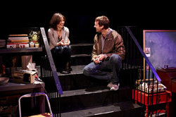 Susan Pourfar and Russell Harvard in Tribes (© Gregory Costanzo)