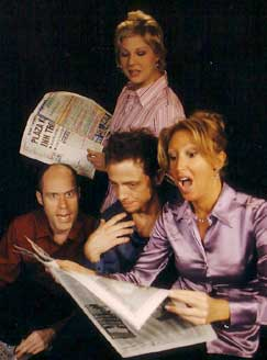 Stephanie Kurtzuba, Todd Alan Johnson,Jeff Skowron, and Kim Cea in Newsical