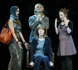 Florencia Lozano, Jeffrey Carlson, Clea Lewis,and Veanne Cox in Last Easter 