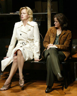 Margaret Colin and Ally Sheedy in Triptych(Photo © Carol Rosegg)