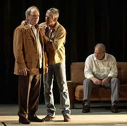 Harris Yulin, Scott Glenn, and Stacy Keach in Finishing the Picture