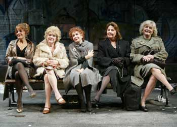 Priscilla Lopez, Marylouise Burke, Katherine Helmond, Carlin Glynn,and Joyce Van Patten in The Oldest Profession(Photo © Carol Rosegg)