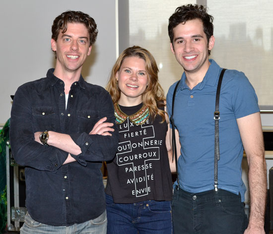 Christian Borle, Celia Keenan-Bolger, and Adam Chanler-Berat