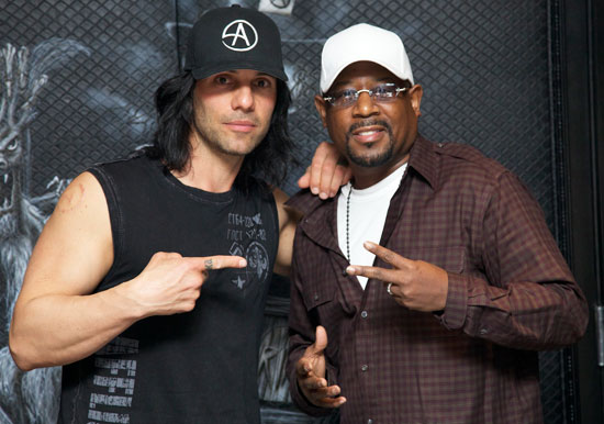 Criss Angel and Martin Lawrence
