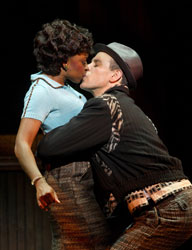 Montego Glover and Adam Pascal in Memphis (© Joan Marcus)