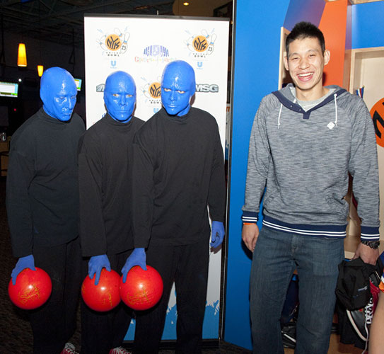 The Blue Men with Jeremy Lin