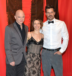 Evita stars Michael Cerveris, Elena Roger, and Ricky Martin