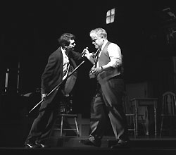 Andrew Garfield and Philip Seymour Hoffman
