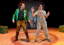Seth Golay and Jennie Greenberry in Lucky Duck (© Robert Schraeder)
