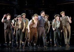 A scene from Newsies