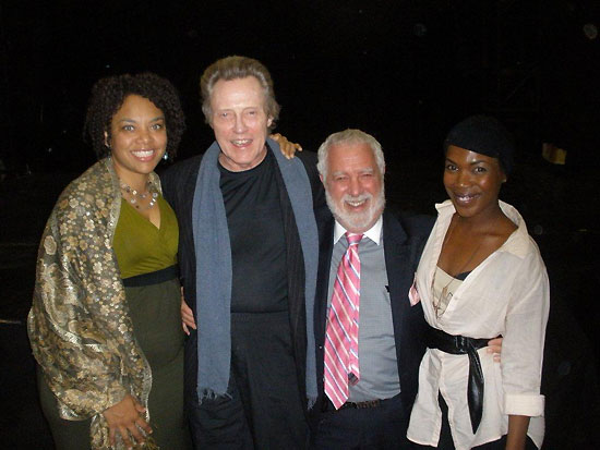 Diana Zollicoffer, Christopher Walken, Michael Mann, Kenyetta Lethridge following a preview of  Innocent Flesh