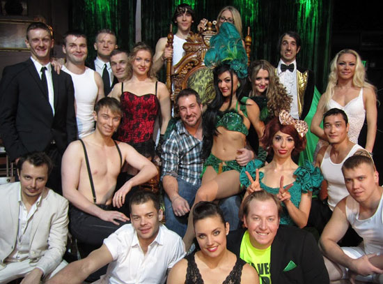 Joey Fatone and the cast of Absinthe