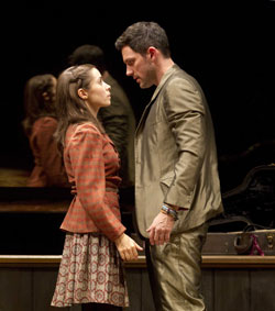 Cristin Milioti and Steve Kazee in Once